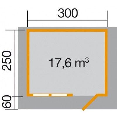 Bild 2 von Weka Gartenhaus 139A Gr. 1 mit Vordach 60cm