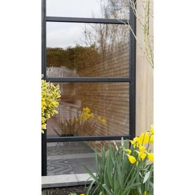 Afbeelding 4 van WoodAcademy Zijwand 400 cm glas met roede*