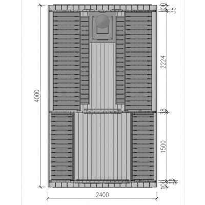 Afbeelding 2 van Interflex Sauna Pod 4m