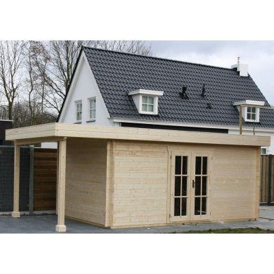 Bild 10 von Azalp Blockhaus Sven 450x500 cm, 45 mm
