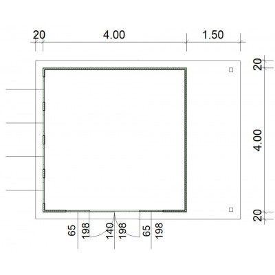 Bild 3 von SmartShed Blockhaus Isidro 400x400 cm, 30 mm