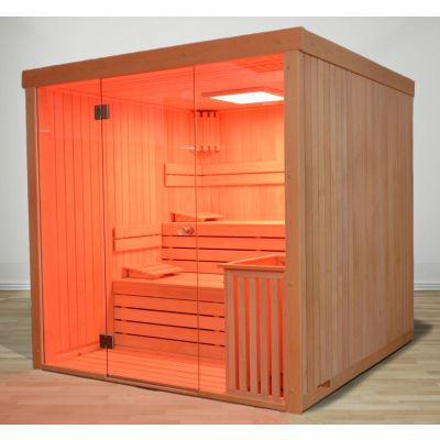 Afbeelding 80 van Azalp Lumen elementsauna 152x152 cm, vuren
