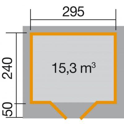 Bild 2 von Weka Designhaus 126 Gr.2, 295x240 cm Schwedenrot