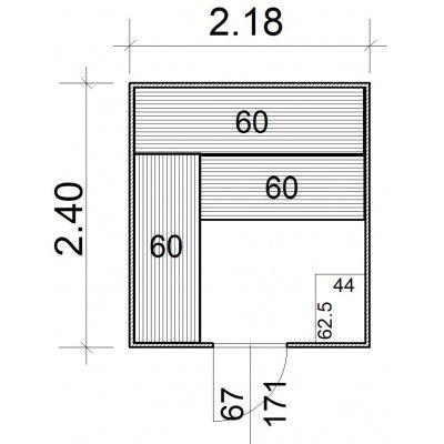 Afbeelding 5 van Azalp Massieve sauna Rio Standaard 218x240 cm, 39 mm
