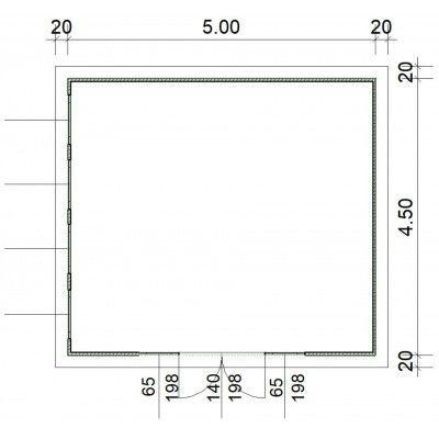 Afbeelding 2 van SmartShed Blokhut Zenon 500x450 cm, 45 mm
