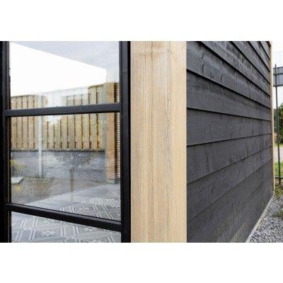 Afbeelding 9 van WoodAcademy Zijwand 400 cm glas met roede*