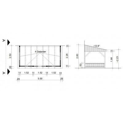 Bild 34 von Azalp Terrassenüberdachung Holz 500x250 cm