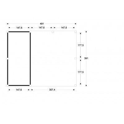 Bild 5 von WoodAcademy Bristol Nero Gartenhaus 500x400 cm