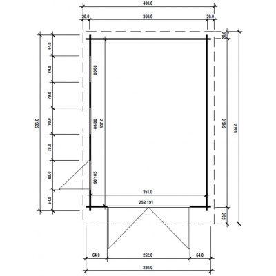 Afbeelding 63 van Azalp Garage Thijs 380x536 cm, 60 mm