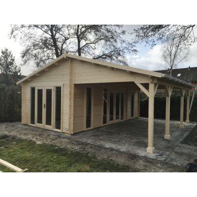 Bild 38 von Azalp Blockhaus Ben 650x700 cm, 45 mm