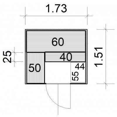 Afbeelding 4 van Azalp massieve sauna Rio Glass 173x151 cm, 39 mm