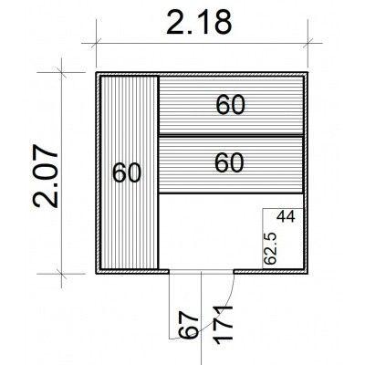 Afbeelding 5 van Azalp Massieve sauna Rio Standaard 218x207 cm, 39 mm