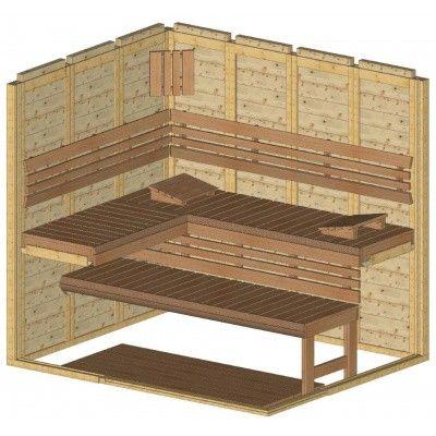 Afbeelding 35 van Azalp Sauna Luja 220x180 cm, 45 mm