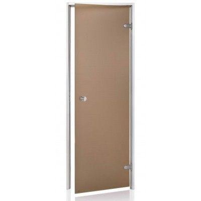 Afbeelding 2 van Hot Orange Stoombad deur Au 90x200 cm, mat brons