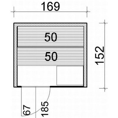 Afbeelding 64 van Azalp Lumen elementsauna 169x152 cm, elzen