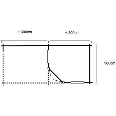 Afbeelding 2 van Interflex Blokhut 3055 Z, zijluifel 300 cm