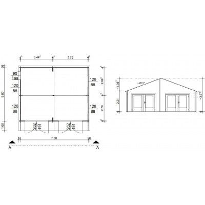 Afbeelding 18 van Azalp Garage Madrid 750x600 cm, 45 mm