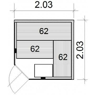 Afbeelding 26 van Azalp Kulma elementsauna 203x203 cm, elzen