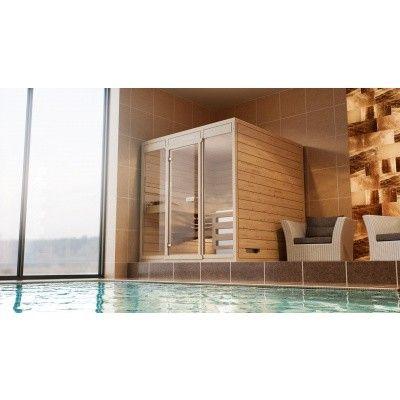 Afbeelding 3 van Azalp Massieve sauna Eva Optic 240x180 cm, 45 mm