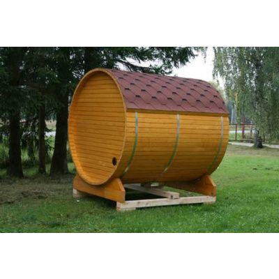 Afbeelding 9 van Azalp Buitensauna Barrel 205x175 cm in 45 mm