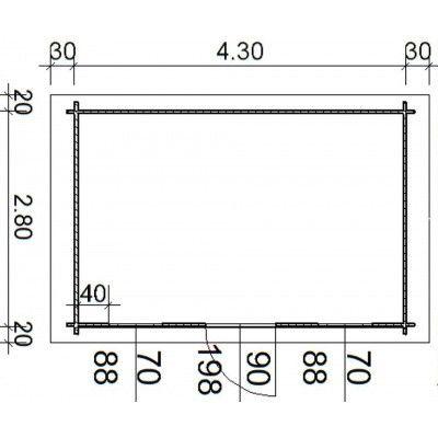 Bild 55 von Azalp Blockhaus Lis 450x300 cm, 30 mm