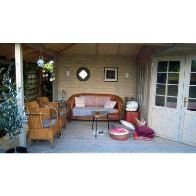 Bild 8 von Interflex Blockhaus 3055 Z, Seitendach 500 cm