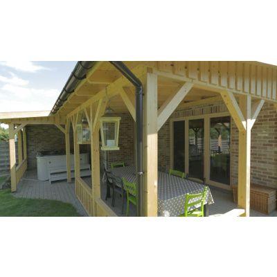 Afbeelding 2 van Azalp Houten veranda 400x400 cm