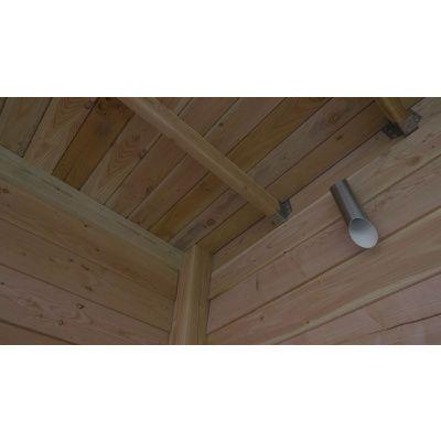 Afbeelding 4 van WoodAcademy Graniet excellent Douglas blokhut 400x400 cm