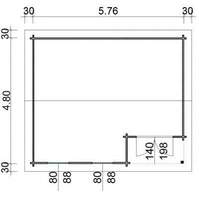 Afbeelding 66 van Azalp Blokhut Kinross 596x500 cm, 45 mm