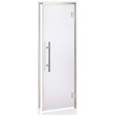 Hoofdafbeelding van Hot Orange Stoombad deur Au Lux 80x190 cm, mat blank