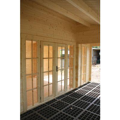 Bild 22 von Azalp Blockhaus Ben 650x650 cm, 60 mm
