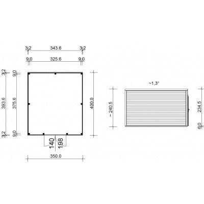Bild 14 von SmartShed Gartenhaus Ligne 350x400 cm