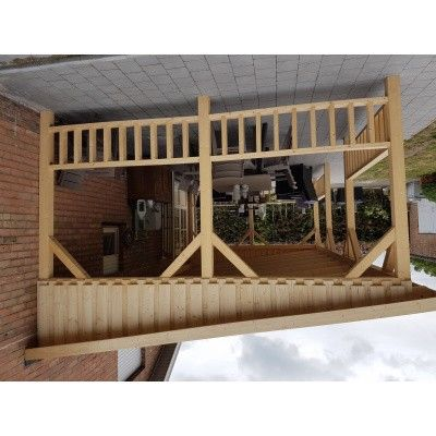 Afbeelding 33 van Azalp Houten veranda 700x300 cm