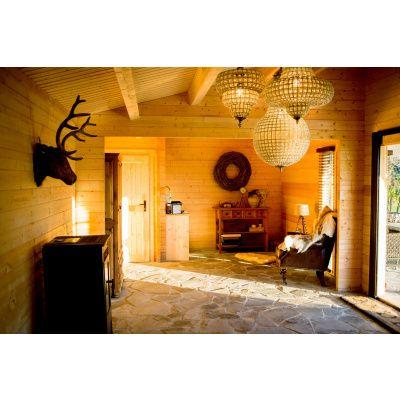 Bild 13 von Azalp Blockhaus Ben 700x650 cm, 45 mm