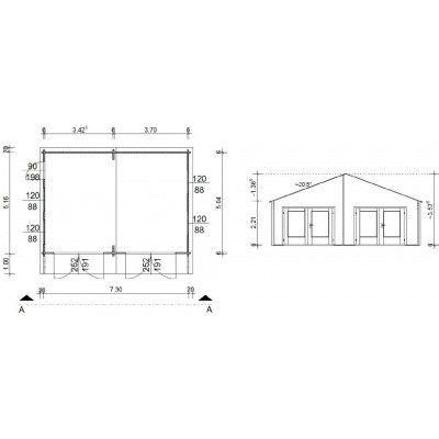 Afbeelding 18 van Azalp Garage Madrid 750x536 cm, 60 mm