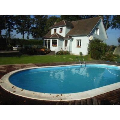 Bild 5 von Trend Pool Beckenrandsteine Tahiti 800 x 400 weiß (für Ovalbecken)
