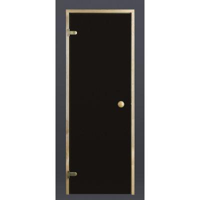 Afbeelding 2 van Ilogreen Saunadeur Trend (Elzen) 209x89 cm, bronsglas
