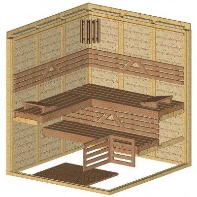 Afbeelding 44 van Azalp Massieve sauna Genio 180x190 cm, 45 mm