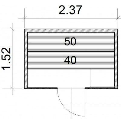 Afbeelding 64 van Azalp Lumen elementsauna 237x152 cm, elzen