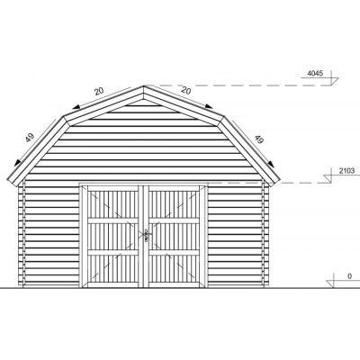 Afbeelding 10 van Graed Mississippi Garage 500x595 cm, 44 mm