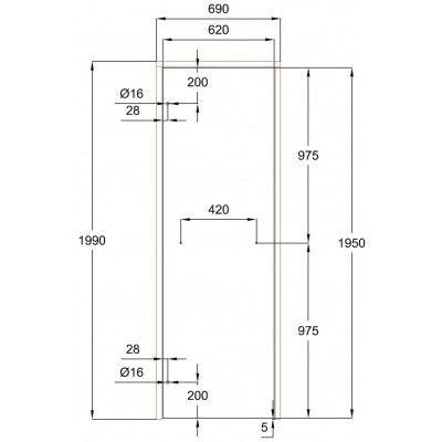 Afbeelding 7 van Ilogreen Saunadeur Classic (Elzen) 69x199 cm, groenglas