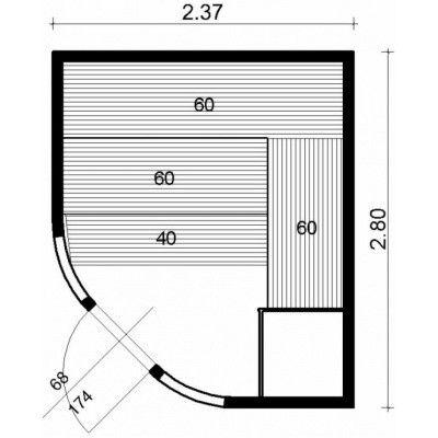 Afbeelding 13 van Azalp Sauna Runda 237x280 cm espen