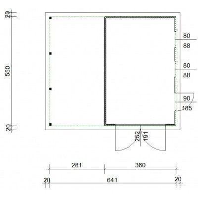 Afbeelding 4 van Azalp Garage Cidro 641x550 cm, 45 mm
