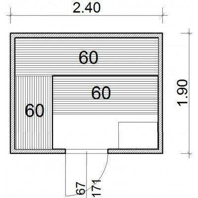 Afbeelding 43 van Azalp Massieve sauna Genio 240x190 cm, 45 mm