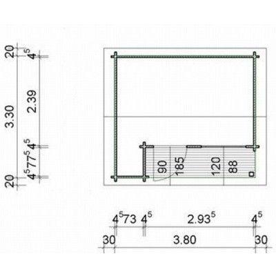 Bild 34 von Azalp Blockhaus Kirkwall 400x350 cm, 45 mm