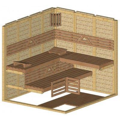 Afbeelding 44 van Azalp Massieve sauna Genio 220x200 cm, 45 mm