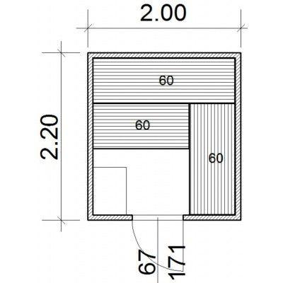 Afbeelding 43 van Azalp Massieve sauna Genio 200x220 cm, 45 mm