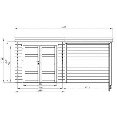 Afbeelding 2 van Debro Fouronnes met veranda 240 cm