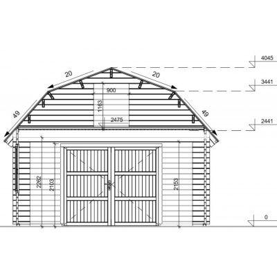 Afbeelding 8 van Graed Mississippi Garage 500x595 cm, 44 mm