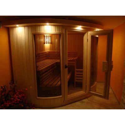 Bild 4 von Azalp Sauna Runda 203x237 cm, Espenholz
